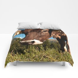cute cow close Comforters