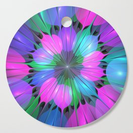 Colorful and Luminous Fractal Cutting Board
