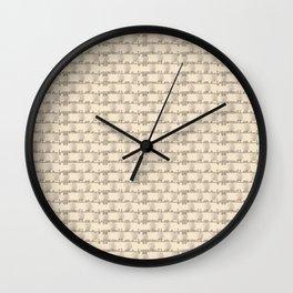 I am a Juggernaut - Cream & Gray Wall Clock