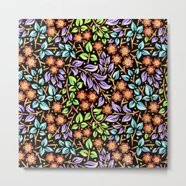 Filigree Floral smaller scale Metal Print