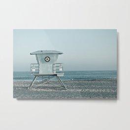 Ocean Blue - Santa Cruz Lifeguard Tower Metal Print