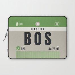 Luggage Tag A - BOS Boston USA Laptop Sleeve