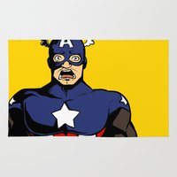 bucky Area & Throw Rugs featuring bucky!cap by zombietonbo