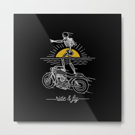 Ride and Fly Metal Print