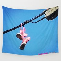 sneakers Wall Tapestries featuring DISCO SNEAKERS  by Punkboy Marti