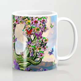 Spring Equinox Tree with Dragons and Owl Coffee Mug