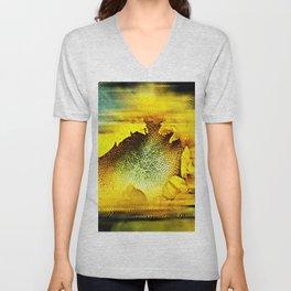Sunflower Abstract Unisex V-Neck