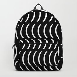 Smiley Big W&B Backpack