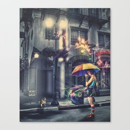 Colorful Lights Canvas Print