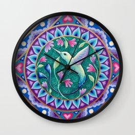 Hummingbird Mandala Wall Clock