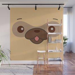 Kawaii Cute Pug Wall Mural