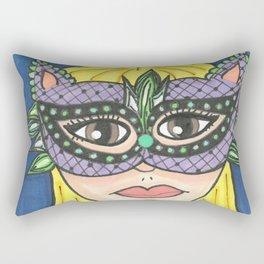 Mask Girl Rectangular Pillow