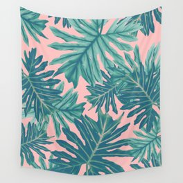 Philo Hope - Tropical Jungle Leaves Pattern #7 #tropical #decor #art #society6 Wall Tapestry