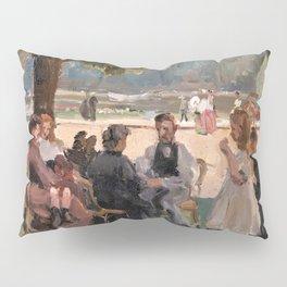 Isaac Lazarus Israels - In The Bois De Boulogne Near Paris - Digital Remastered Edition Pillow Sham