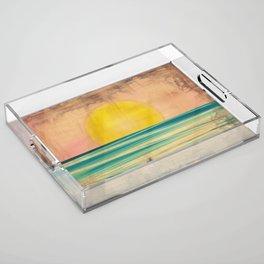Ocean Sunset 1.0 Vintage Acrylic Tray