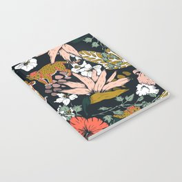Animal print dark jungle Notebook