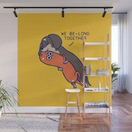 We belong together dachshund Wall Mural