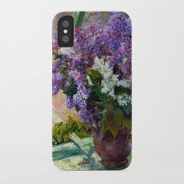 Mary Cassatt Lilacs in a Window iPhone Case