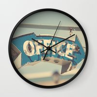 office Wall Clocks featuring Office by bomobob