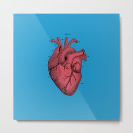 Vintage Anatomical Heart Metal Print