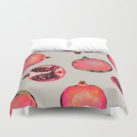 eat Duvet Covers featuring Pomegranate Pattern by Georgiana Paraschiv