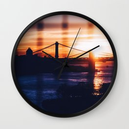 New York bridge Wall Clock