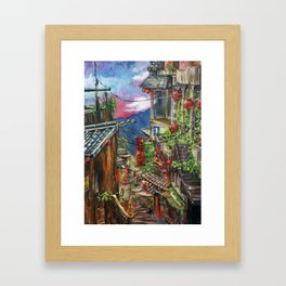 Jiufen Framed Art Print