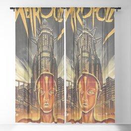 Metropolis Vintage Movie Sheer Curtain