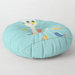 Birdwatching Floor Pillow