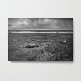 Old boat far from the sea Metal Print