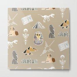 Archeo pattern Metal Print