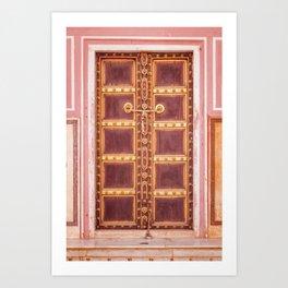 Jaipur Palace Door Art Print