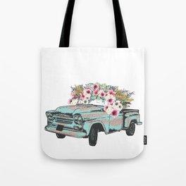 Flower Crown Vic Tote Bag
