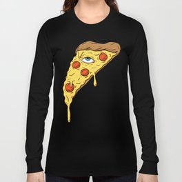 All Seeing Pizza Long Sleeve T-shirt