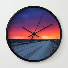 Backroad to Heaven Wall Clock