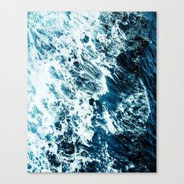 Water, Sea, Ocean, Wave, Blue, Nature, Modern art, Art, Minimal, Wall art Canvas Print