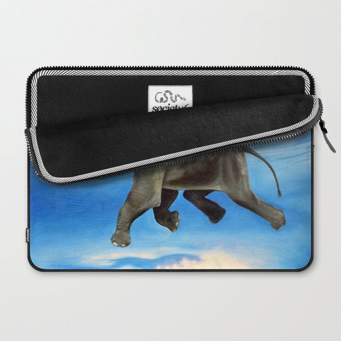 Rajan The Swimming Elephant Laptop Sleeve