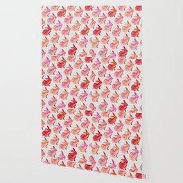 Watercolor Bunnies 1F by Kathy Morton Stanion Wallpaper