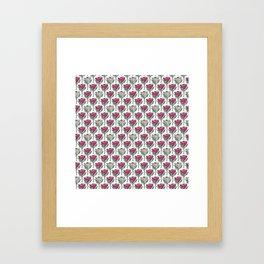 King Protea (Pink on White) Framed Art Print