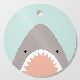shark attack Cutting Board
