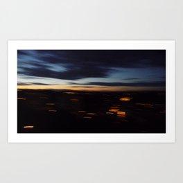 Friday night vertigo Art Print