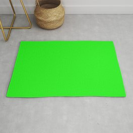 From The Crayon Box – Electric Lime - Bright Green - Neon Green Solid Color Rug
