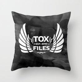 Tox Files - White on Gray Throw Pillow