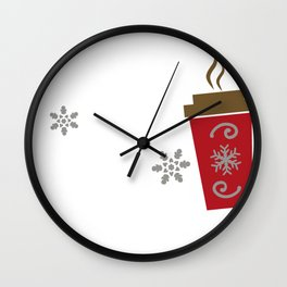 Have a Cup of Cheer Christmas Coffee Wall Clock