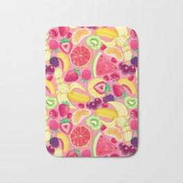Fruit Cocktail on Pink Bath Mat
