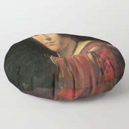 Leonardo da Vinci - Ritratto di donna, dice La Belle Ferronnière Floor Pillow