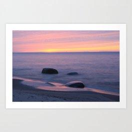 Lake Superior Sunset neat Ontonagon, Michigan Art Print