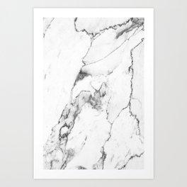White Marble I Art Print