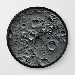 Moon Surface Wall Clock