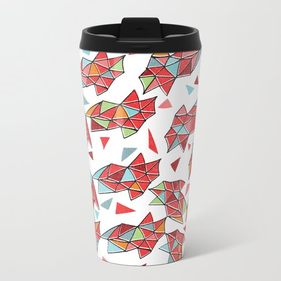 triangles Metal Travel Mug